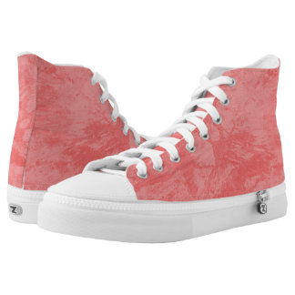 Pink Marble Splash High-Top Sneakers