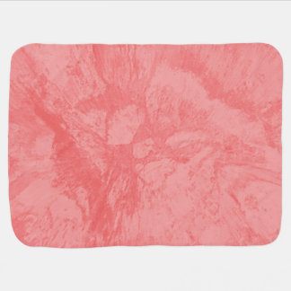 Pink Marble Splash Swaddle Blanket