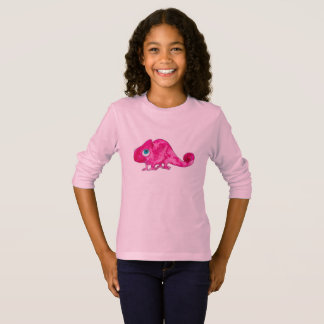 Pink Marcel the Chameleon Kids Tshirt