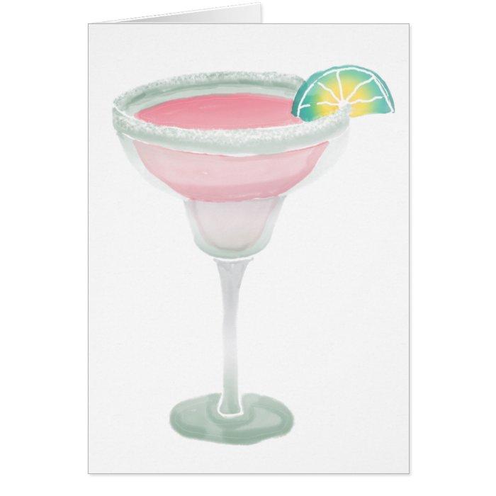 Pink Margarita Card