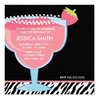 Pink Margarita Personalized Invitations