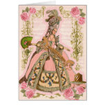 Pink Marie Roses Let Them Eat Cake Card