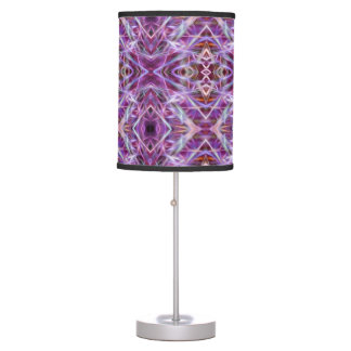 Pink Maroon Abstract Design Lampshade Desk Lamps