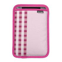 pink & maroon stripe pattern ipad mini sleeve