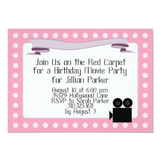 Pink Marquis - Birthday Movie Party Invitations