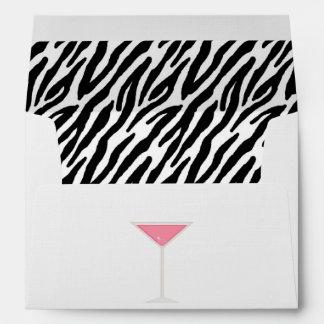 Pink Martini and Zebra Print Envelopes