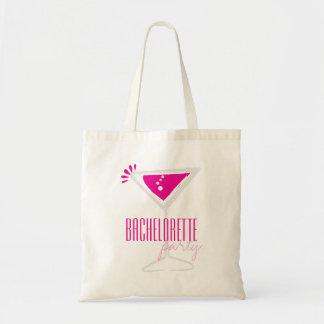 Pink Martini Glass Bachelorette Party Canvas Bag