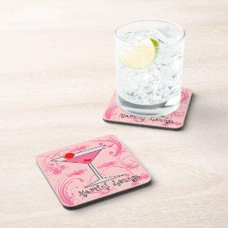 Pink Martini - Martini Lounge Cork Coaster Set (6)