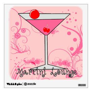 Pink Martini - Martini Lounge Square Wall Decal