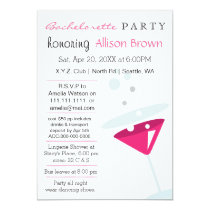 pink Martini Mod Bachelorette Party Card