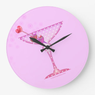 PINK MARTINI WALL CLOCK