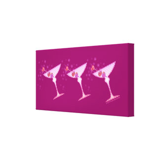 PINK MARTINIS Gallery Wrapped Canvas