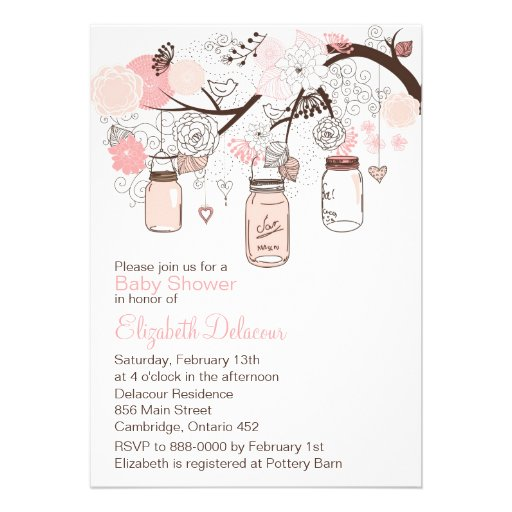 personalized baby shower girl pink invitations, Baby shower invitations
