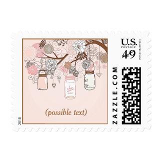 Pink Mason Jars Stamps
