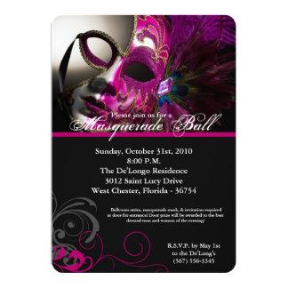 Pink Masquerade Ball Mask Costume Halloween Part Card