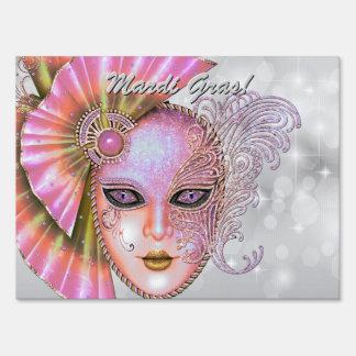 Pink Masquerade Ball! Party Sign