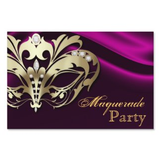 Pink Masquerade Gold Halloween Yard Sign