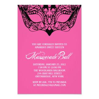 Pink Masquerade Invitations