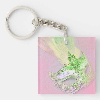 Pink Masquerade Keychain