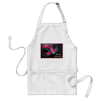 Pink Masquerade Mask Halloween Kitchen Apron
