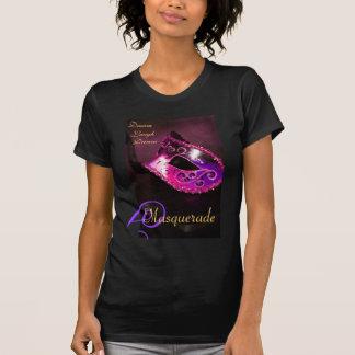 Pink Masquerade Mask Ladies Halloween T-Shirt
