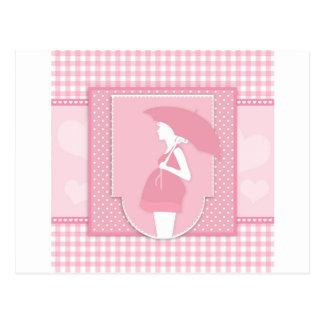 pink maternity postcard