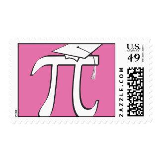 PINK Math Pi Graduate Postage Stamp