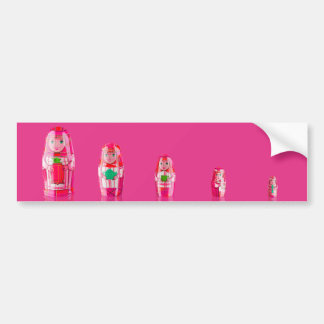 Pink Matryoshka Russian Dolls Bumper Sticker