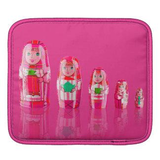 Pink Matryoshka Russian Dolls iPad Pad iPad Sleeve