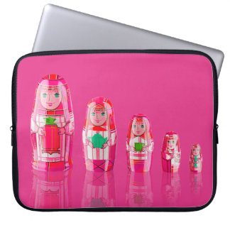 Pink Matryoshka Russian Dolls Laptop Sleeve