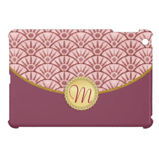Pink Mauve Gold Damask Pattern Case For The iPad Mini