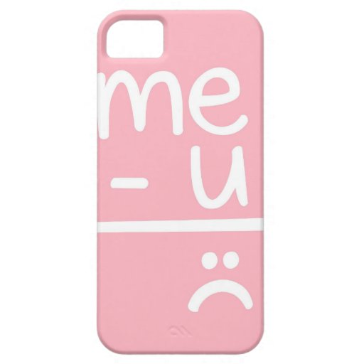 Pink Sad Face Pink me minus you equals sad face doodle iphone 5 coversPink Sad Face