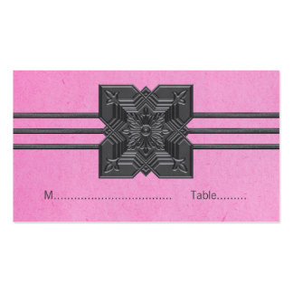 Pink Medallion Border Place Card Business Cards