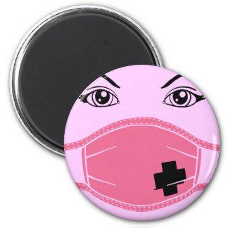 Pink Medical Mask Graphic Magnet