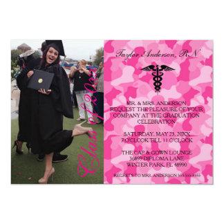 Pink Medical RN School Graduation Announcement