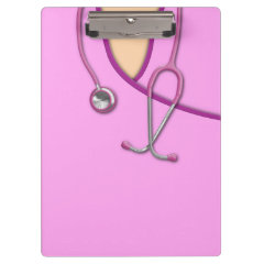 Pink Medical Scrubs Clipboards