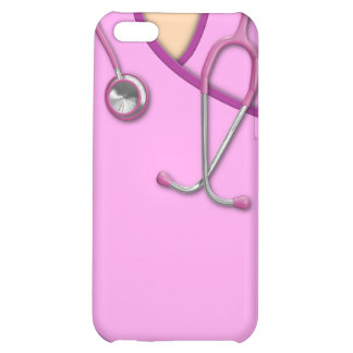 Pink Medical Scrubs iPhone 5C Cover