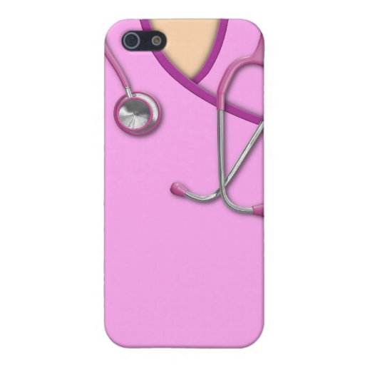 Pink Medical Scrubs iPhone 5 Cases