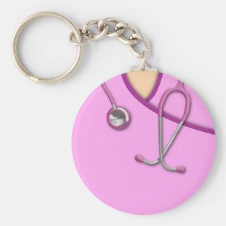 Pink Medical Scrubs Keychain