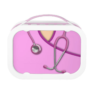 Pink Medical Scrubs Yubo Lunchboxes