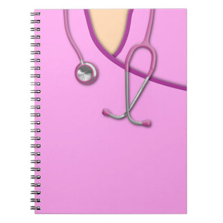 Pink Medical Scrubs Notebook
