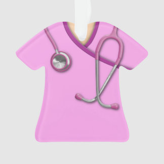 Pink Medical Scrubs Ornament