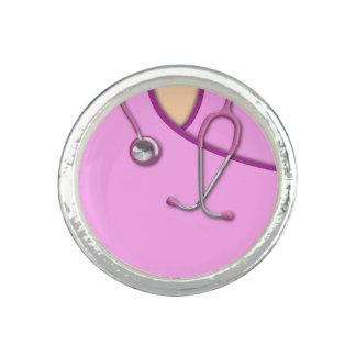 Pink Medical Scrubs Rings