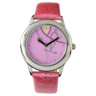 Pink Medical Scrubs Watches