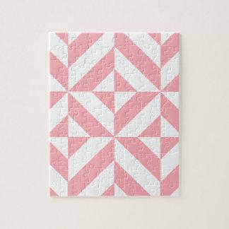 Pink Melon Geometric Deco Cube Pattern Puzzle
