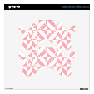 Pink Melon Geometric Deco Cube Pattern Skins For PS3 Controllers
