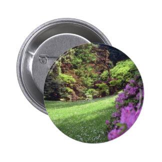 Pink Melzi Gardens, Venice flowers Pinback Button