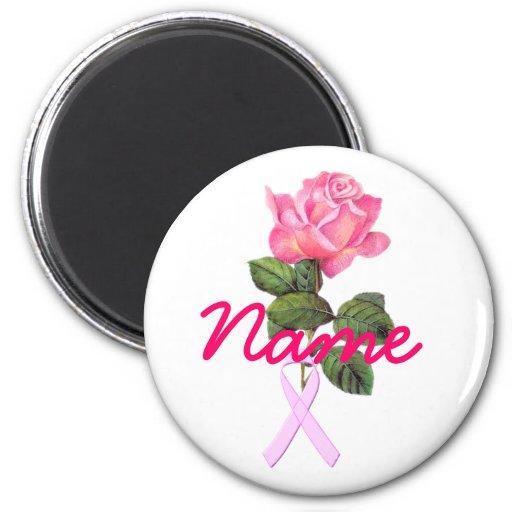 Pink Memory Rose 2 Inch Round Magnet