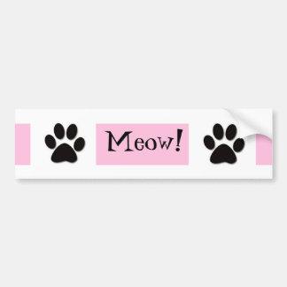 Pink Meow Bumper Sticker Car Bumper Sticker