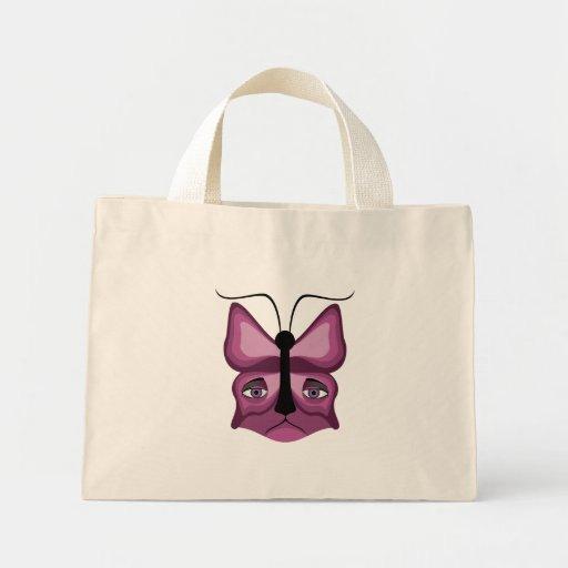 Pink Meow Mask Canvas Bag